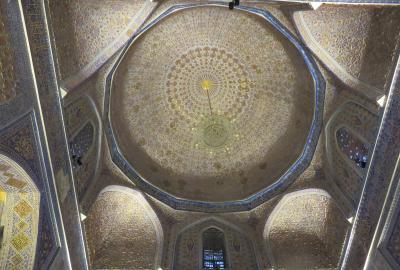2019春、ウズベキスタン等の旅(4/52):4月24日(2):サマルカンド(3):ビビハニム・モスク、ティムールの墓