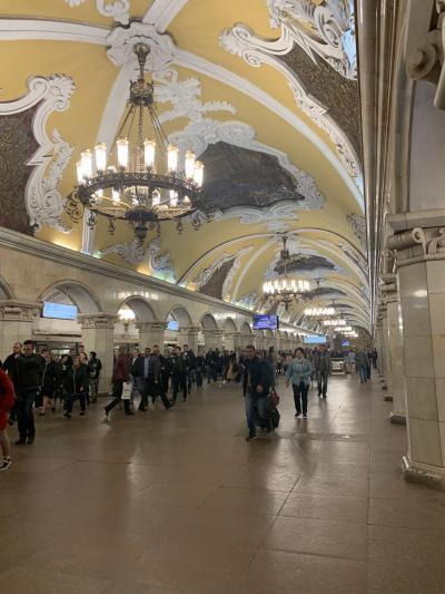 GW*ロシアとイスラエルの旅*9日間①出発編!モスクワの地下鉄に驚き