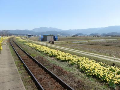 山形鉄道フラワー長井線で行く、置賜さくら回廊