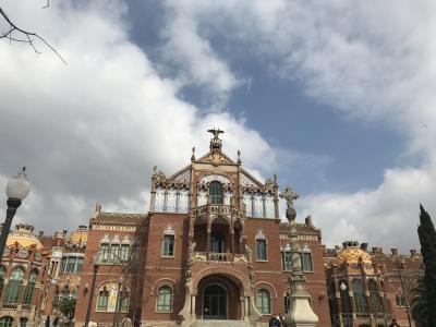 スペイン語学習仲間とバルセロナ自由旅行 4-2 サンパウ病院とランチ