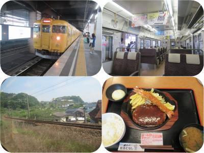 初夏の山陽・四国旅(13)山陽本線普通電車で岡山へ&宮本むなしで定食