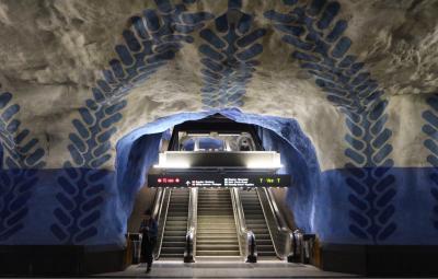 地下鉄駅アートの旅 ストックホルム