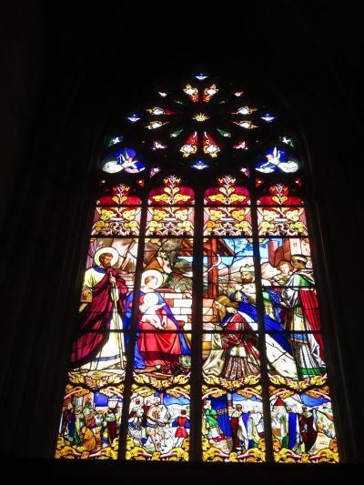 フライングバットレス♪パイプオルガン♪翼楼バラ窓♪サン・ガシアン大聖堂♪2019年5月 フランス ロワール地域他 8泊10日(個人旅行)11