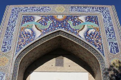 ウズベキスタン・トルクメニスタンの旅(13)~ブハラ1 ナディール・ディヴァンベギ・マドラサ、夕暮れのカラーン・ミナレット~