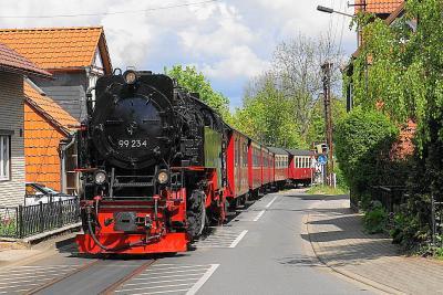 ハルツ狭軌鉄道でSLを撮った