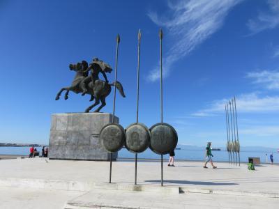ギリシャ、アルバニアを経て旧ユーゴスラビアの国々を周遊(2)圧巻のアレクサンドロス大王像【テッサロニキ】
