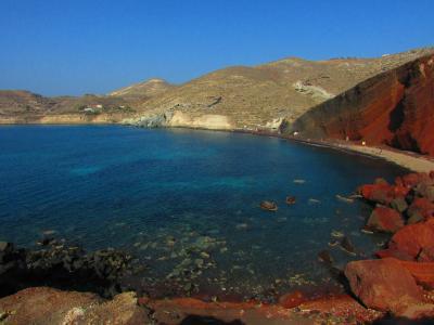 535.Greece アクロティリのレッドビーチと遺跡 [ギリシア3回目編Part2]