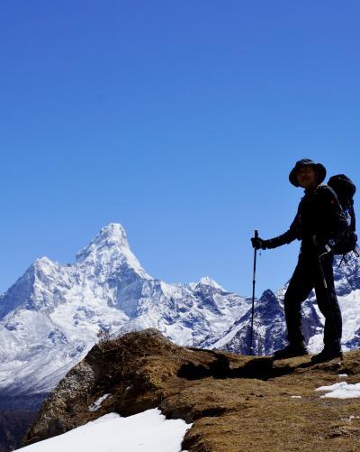 エベレスト街道274㌔巡礼の道を歩き登った記録 10.ナムチェ・バザール(3440m)~クムジュン(3775m)山岳風景が広がる