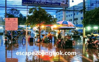 ほあほあホアヒン(02)タイ王室の静養地も洪水するの?乾季なのに【2007年4月-5月】