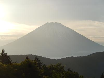 令和元年も箱根温泉旅行をしました③ホテルの庭散策で富士山を見る