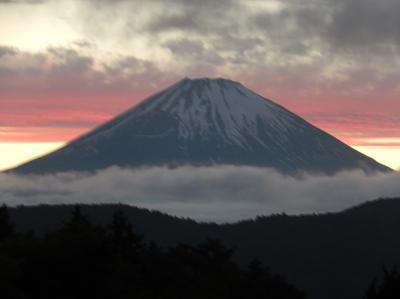 令和元年も箱根温泉旅行をしました④夕食後に素晴らしい富士山を見ました