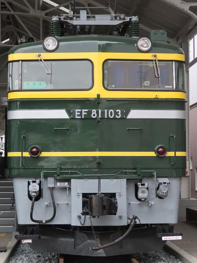 梅小路公園-3 京都鉄道博物館a   プロムナード ☆名車両ずらり・ トワイライトエクスプレスも
