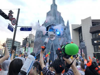 有休いらず! ソウルでチーム(前職)の打ち上げ会。と新村水鉄砲フェスティバル