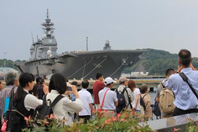 護衛艦かが、マリーンワン、要人ヘリEC225、ニュースの現場、横須賀に行ってみる。