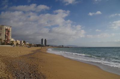 スペイン語学習仲間とバルセロナ自由旅行 5-1 バルセロナ浜辺と歴史博物館