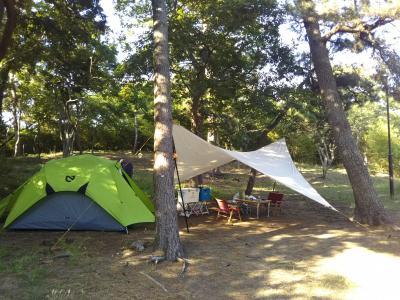 富津キャンプ場で潮干狩り
