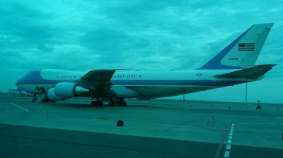 米国大統領専用機 エアフォース・ワン(VC-25A テールナンバー29000) と羽田で遭遇。