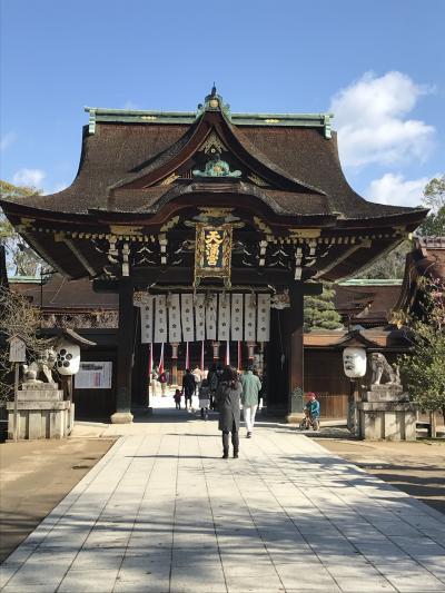 お礼参りの旅 in京都   桜咲いてる?