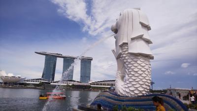 週末の弾丸シンガポール。市内定番の観光地を歩く。