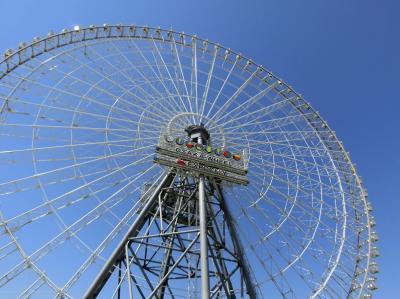 大阪万博記念公園 高所恐怖症と思われるオッチャンが、地上123m・約18分間の空中散歩。(2019)