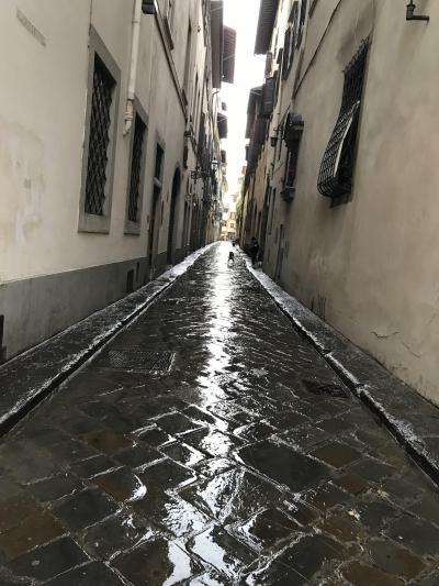 番外編・誰もいない早朝散歩の記録が一部途中で消失(涙)でも、雨に煙る石畳と夕暮れ風景が残って思い出に
