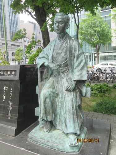 札幌の大通公園・西3丁目・石川 啄木像 歌碑・他