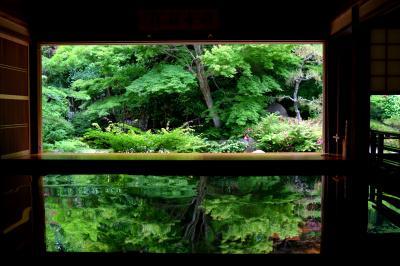 初夏の新緑 逆さ紅葉の「寿福寺」「御橋観音」「眼鏡岩」