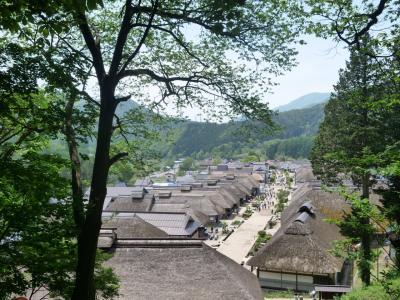 会津の街を一望する「新鶴温泉」と「大内宿」を「関東からバスだけ」で巡った旅。