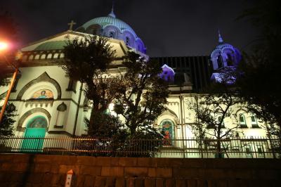 夜のニコライ堂