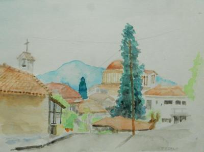 修道院のあるメテオラの麓にある、カランバカ、何にもない町でどう過ごそうか?
