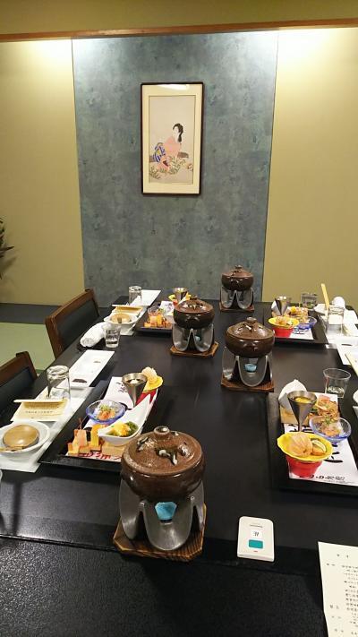温泉でゆったり~まったり~ 美味しいお料理をいただいて アァー年に一度の至福の時です!ヽ(^。^)ノ