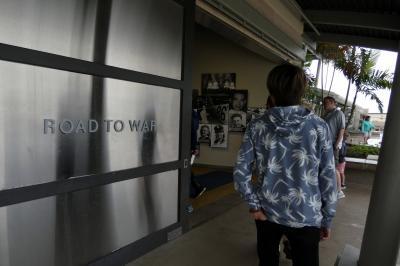 37.長男と行くハワイ3泊 車チャーター観光 パールハーバーヒストリックサイトその1 資料館Road to War(戦争への道)その1
