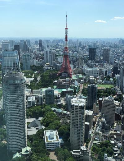 虎ノ門にあるホテル『アンダーズ東京』からの眺望は東京タワー&東京スカイツリー★ 【ザ タヴァン グリル&ラウンジ】のメロンアフタヌーンティー