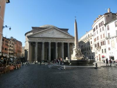 2019GW イタリア10:世界遺産ローマ コロンナ広場とサンタゴスティーノ教会とパンテオン