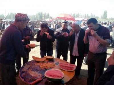 カシュガルの日曜家畜市場