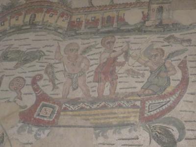 ピッツア・アルメリーナのカサーレの古代ローマの別荘