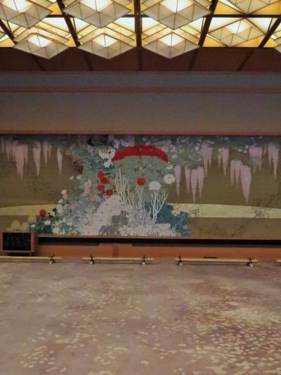 京都平成28 京都迎賓館c 晩餐室 藤の間-桐の間 ☆綴れ織≪麗花≫/黒漆=長座卓=最高品