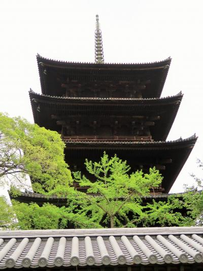 京都平成35 東寺五重塔・京都タワー  Symbol比較 ☆夕景~夜景 街になじんで