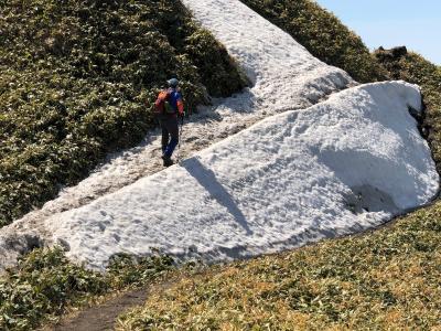 2019.4 今シーズン初の雪まだ残る伊達紋別岳登山