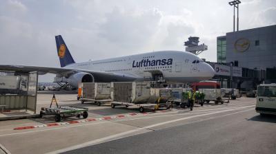 LHでドイツ・ミュンヘン空港からフランクフルト空港へ