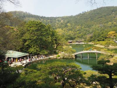 2019.04 桜と庭園巡る春旅(2)「たも屋」のうどんに、ミシュラン三つ星の栗林公園でお花見パート
