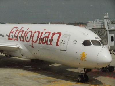 エチオピア航空のビジネスクラスシート SIN → KUL