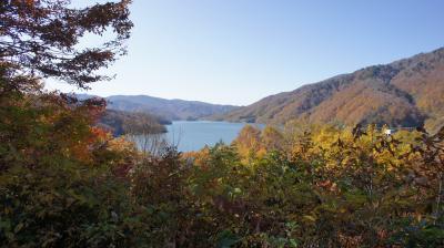 秋の有峰湖と称名滝
