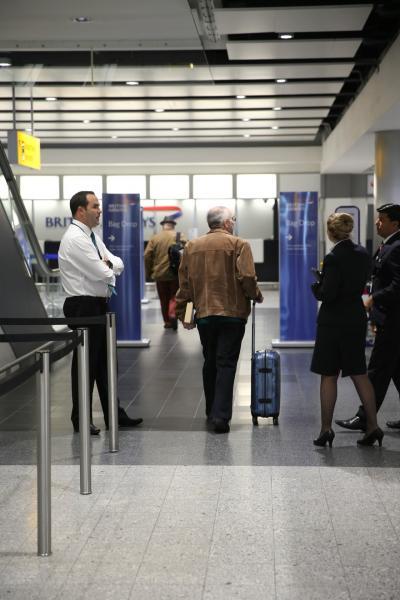 英国航空のチェックインからセキュリティチェック終了まで