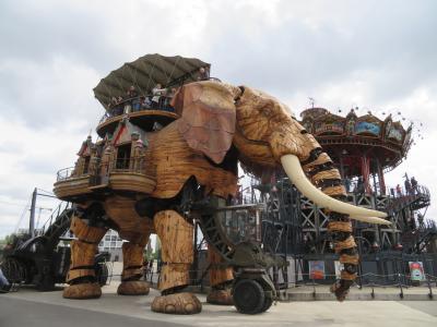 超凶暴な巨大マンモス象に人が!!ナント島のマシン♪レ・マシーン・ド・リル2019年5月 フランス ロワール地域他 8泊10日(個人旅行)45