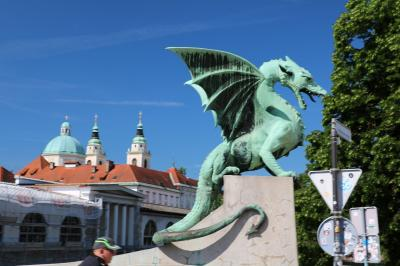 陽光きらめくスロベニア・クロアチアの旅その2(リュブリヤーナ市内観光)