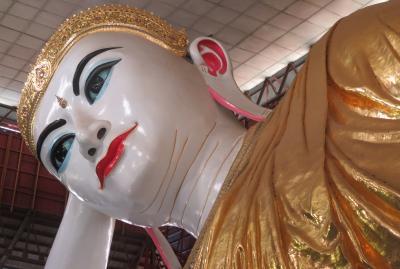 2019春、ミャンマー旅行記(24/25):5月27日(3):ヤンゴン(2):チャウタッジー・パゴダ、寝釈迦仏