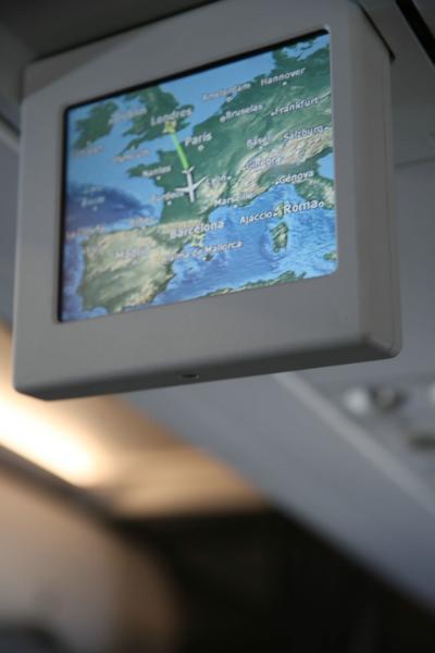 バルセロナ上空に到達