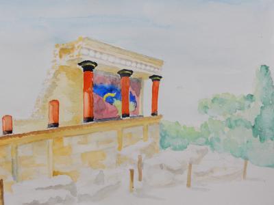 ミノタウロスがいたという迷宮がほんとうにあったのか。 クノッソス宮殿
