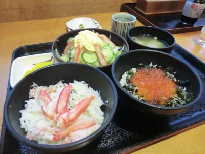 乗食変態行程旅・その3.北海道でカニとイクラを食べよう。